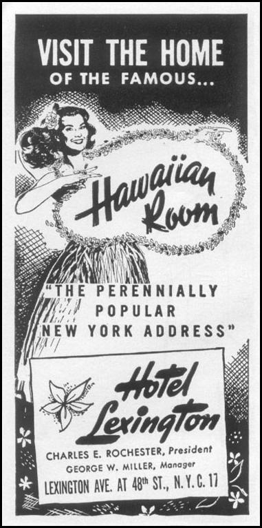 HOTEL LEXINGTON TIME 08/31/1953 p. 86