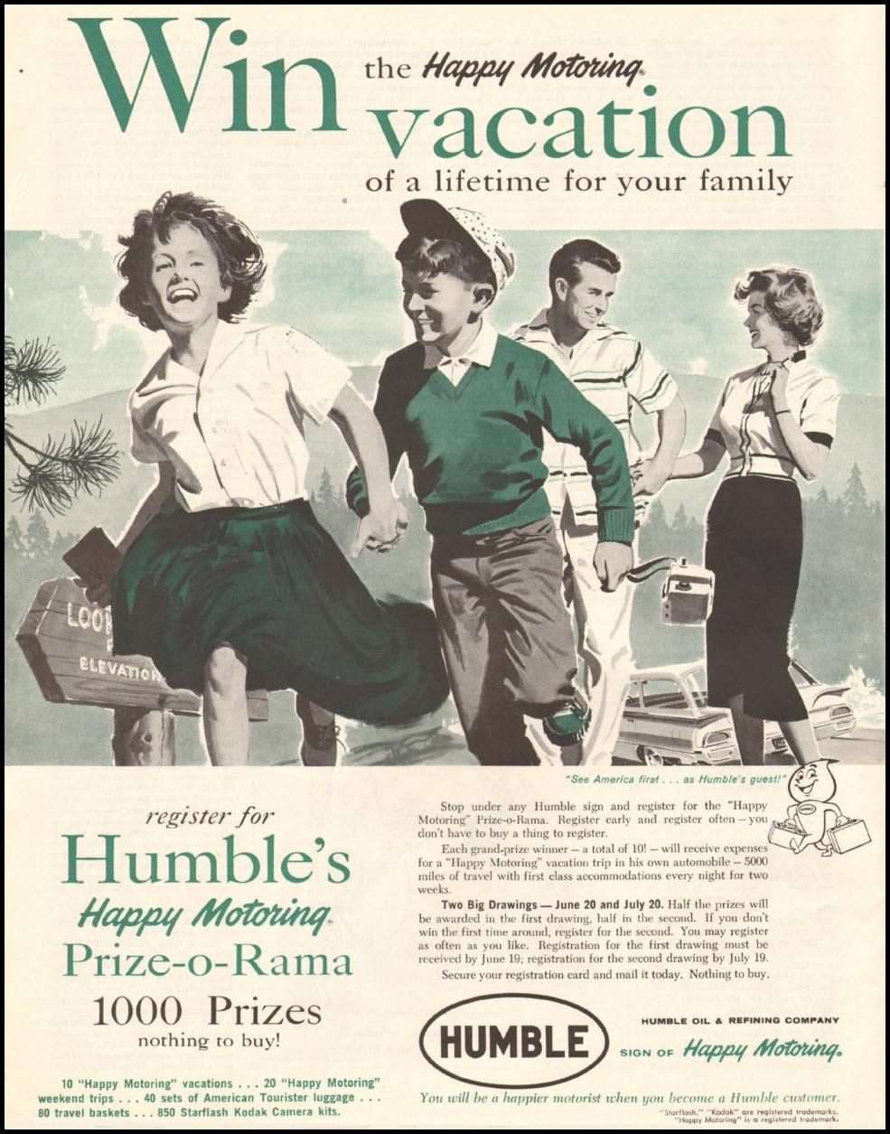 HUMBLE GASOLINE SATURDAY EVENING POST 06/11/1960 p. 76