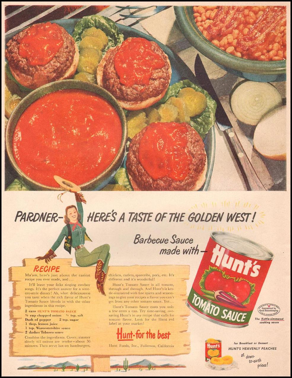 HUNT'S TOMATO SAUCE LIFE 07/02/1951
