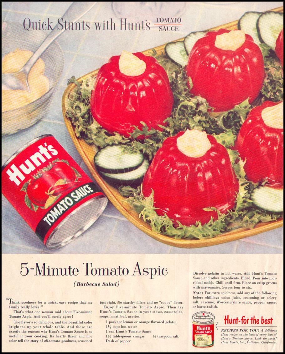 HUNT'S TOMATO SAUCE LIFE 07/12/1954 p. 32