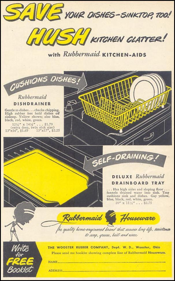 RUBBERMAID KITCHEN-AIDS WOMAN'S DAY 11/01/1948 p. 115