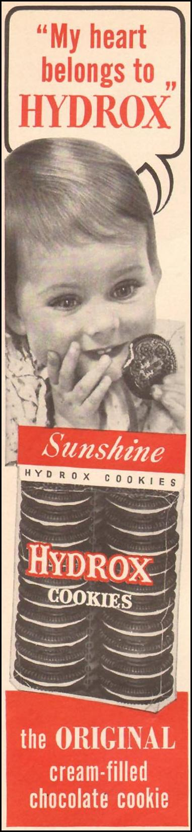 HYDROX COOKIES WOMAN'S DAY 09/01/1955 p. 72