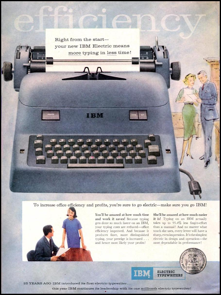 IBM ELECTRIC TYPEWRITERS TIME 05/05/1958 p. 46
