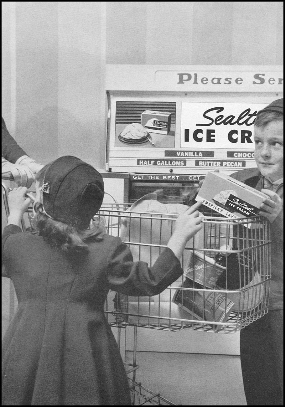 SEALTEST ICE CREAM WOMAN'S DAY 04/01/1956 p. 129