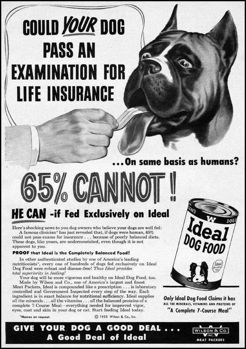 IDEAL DOG FOOD WOMAN'S DAY 02/01/1954 p. 125