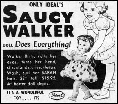 SAUCY WALKER DOLL WOMAN'S HOME COMPANION 12/01/1952 p. 114
