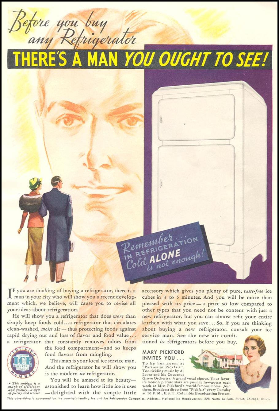 ICE REFRIGERATORS GOOD HOUSEKEEPING 04/01/1936