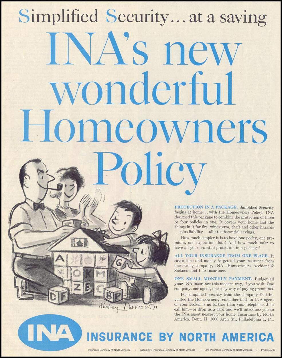 HOMEOWNER'S INSURANCE SATURDAY EVENING POST 08/15/1959 p. 81