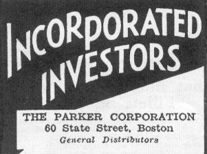 INCORPORATED INVESTORS NEWSWEEK 11/09/1935 p. 40