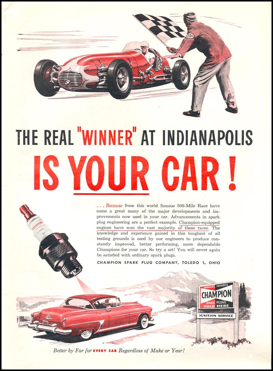 CHAMPION SPARK PLUGS TIME 06/08/1953 p. 3