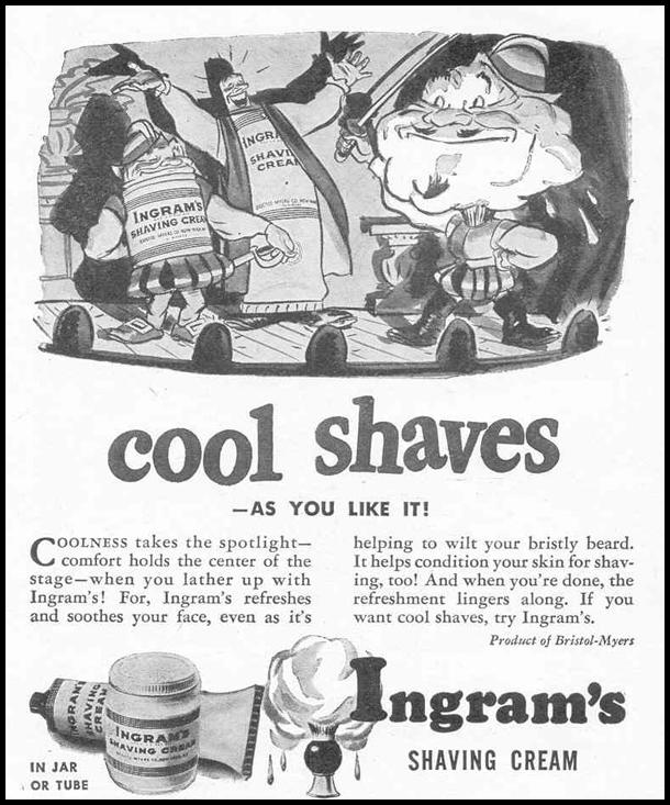 INGRAM'S SHAVING CREAM LIFE 02/14/1944 p. 117