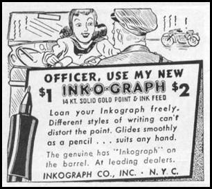 INKOGRAPH PENS LIFE 11/02/1942 p. 105