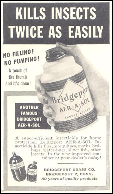 BRIDGEPORT AER-A-SOL INSECT KILLER GOOD HOUSEKEEPING 07/01/1948 p. 235