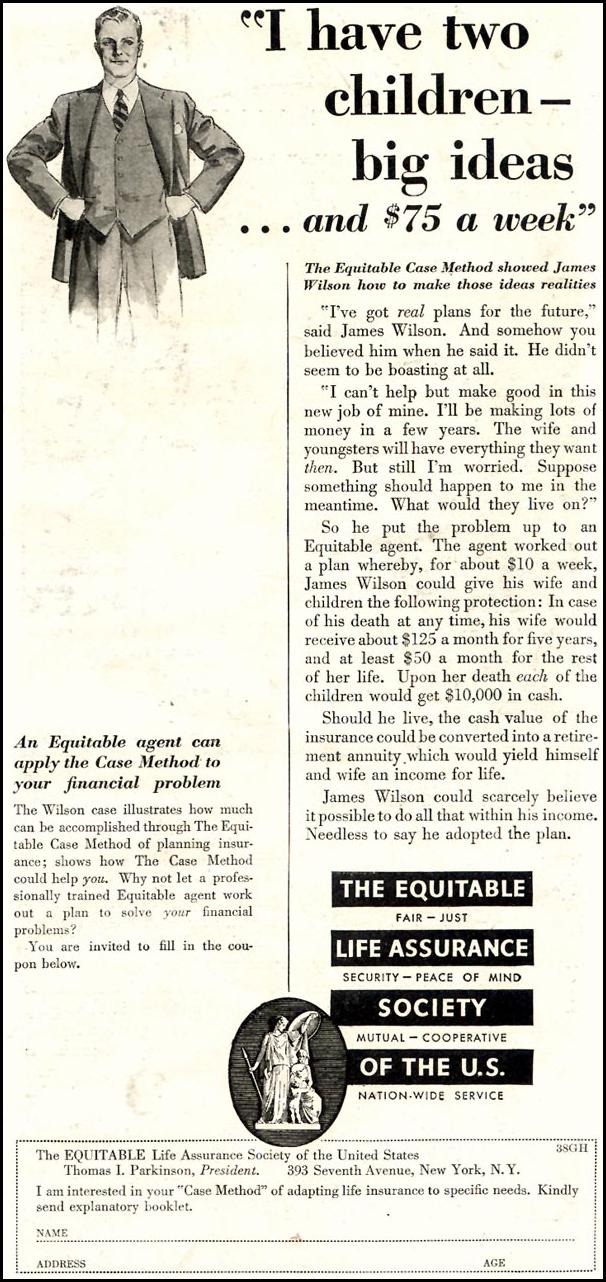 LIFE INSURANCE GOOD HOUSEKEEPING 11/01/1933 p. 231