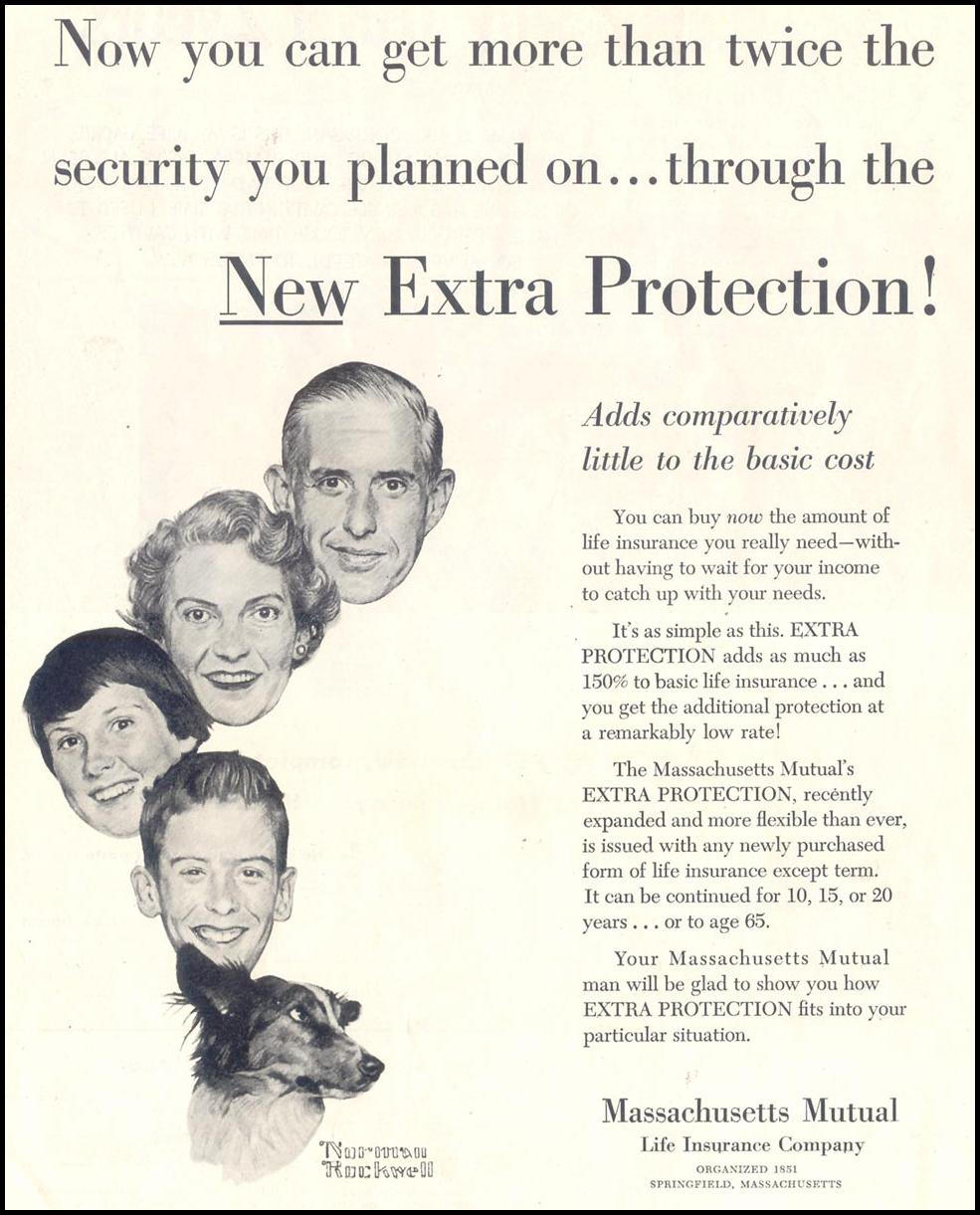 LIFE INSURANCE SATURDAY EVENING POST 06/04/1955 p. 2
