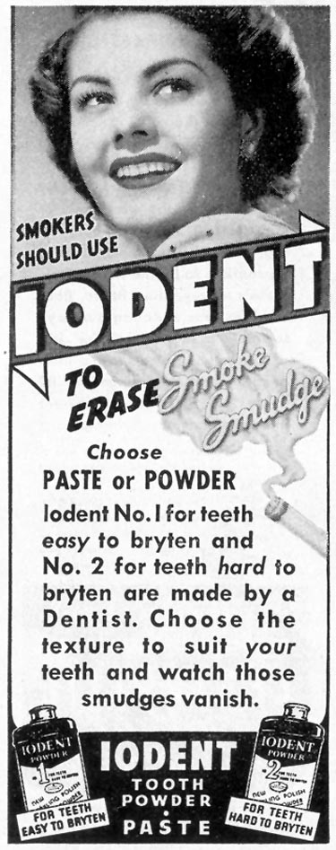 IODENT TOOTHPASTE LIFE 02/21/1944 p. 106