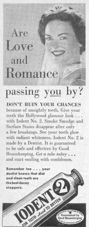 IODENT TOOTHPASTE PHOTOPLAY 08/01/1956 p. 102