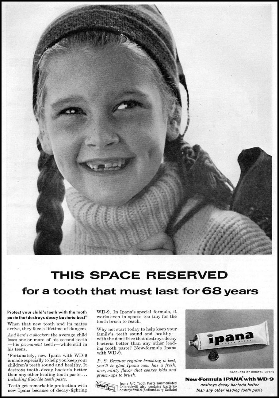 IPANA TOOTHPASTE FAMILY CIRCLE 02/01/1956 p. 3
