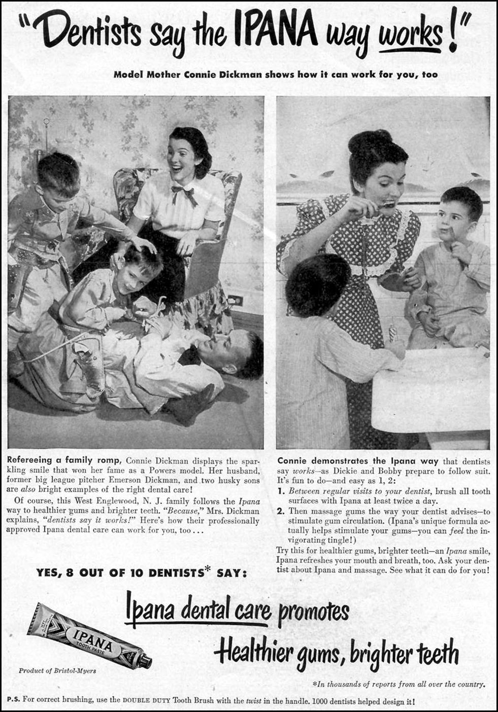 IPANA TOOTHPASTE WOMAN'S DAY 01/01/1949 p. 1