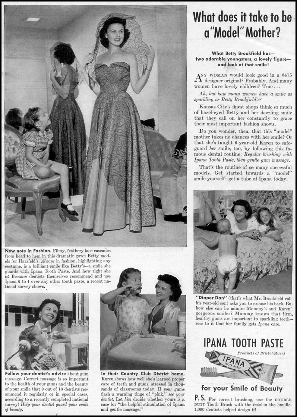 IPANA TOOTHPASTE WOMAN'S DAY 03/01/1948 p. 1