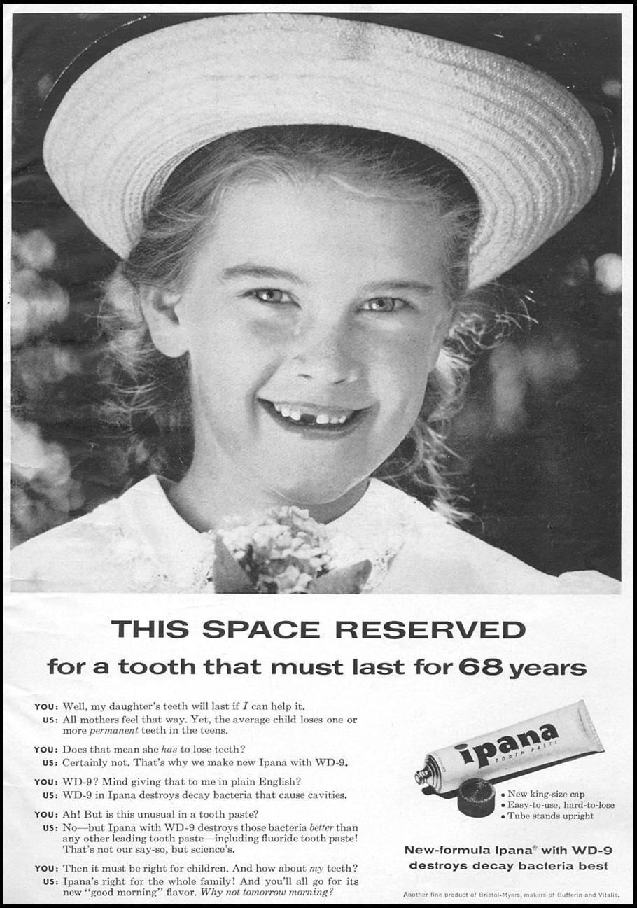 IPANA TOOTHPASTE WOMAN'S DAY 04/01/1956 p. 1
