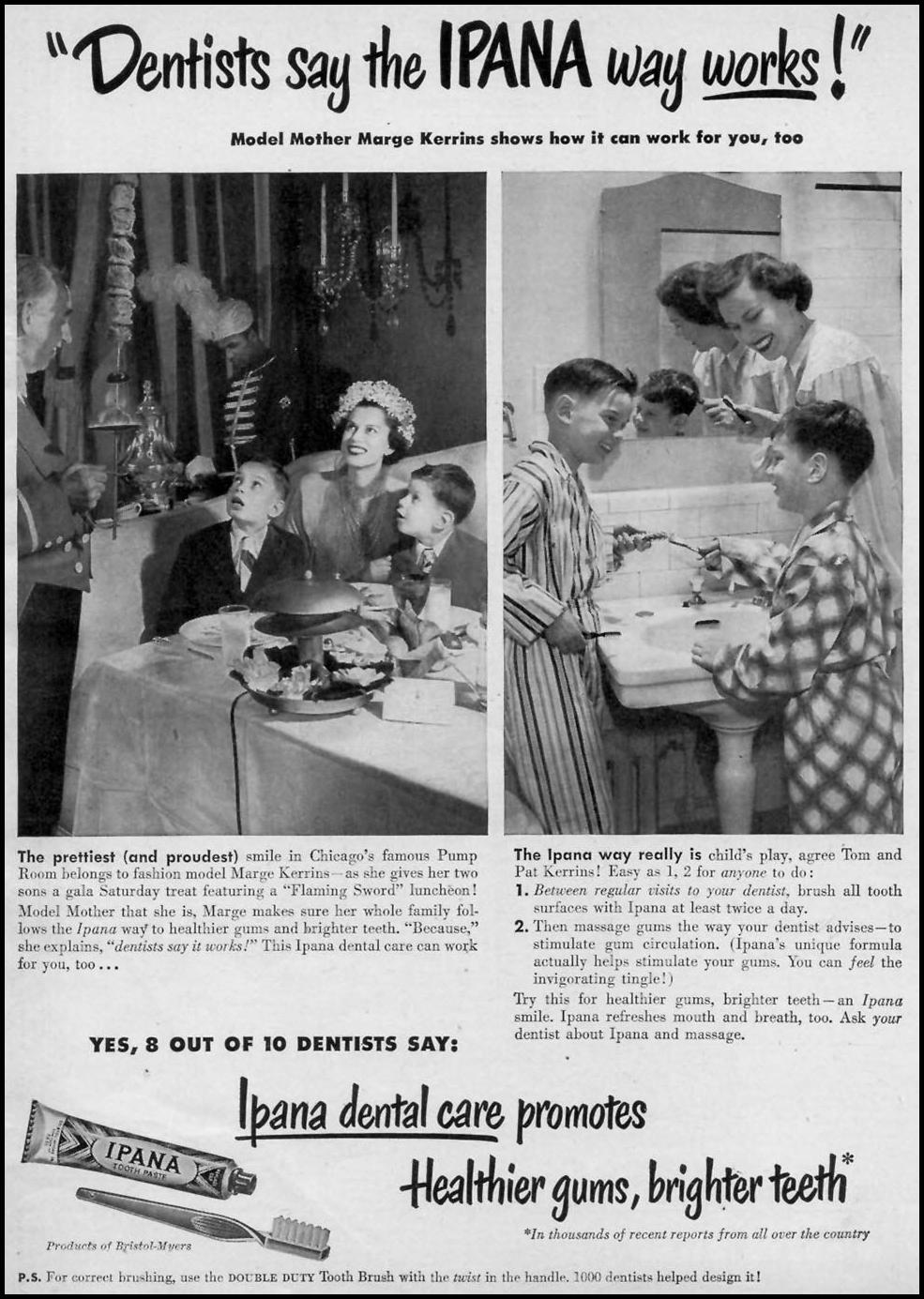 IPANA TOOTHPASTE WOMAN'S DAY 06/01/1948 p. 1