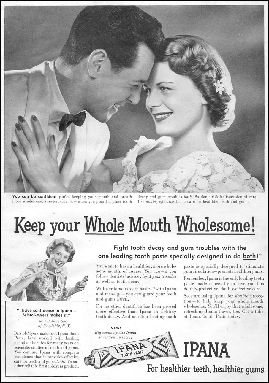 IPANA TOOTHPASTE WOMAN'S DAY 06/01/1950 p. 1