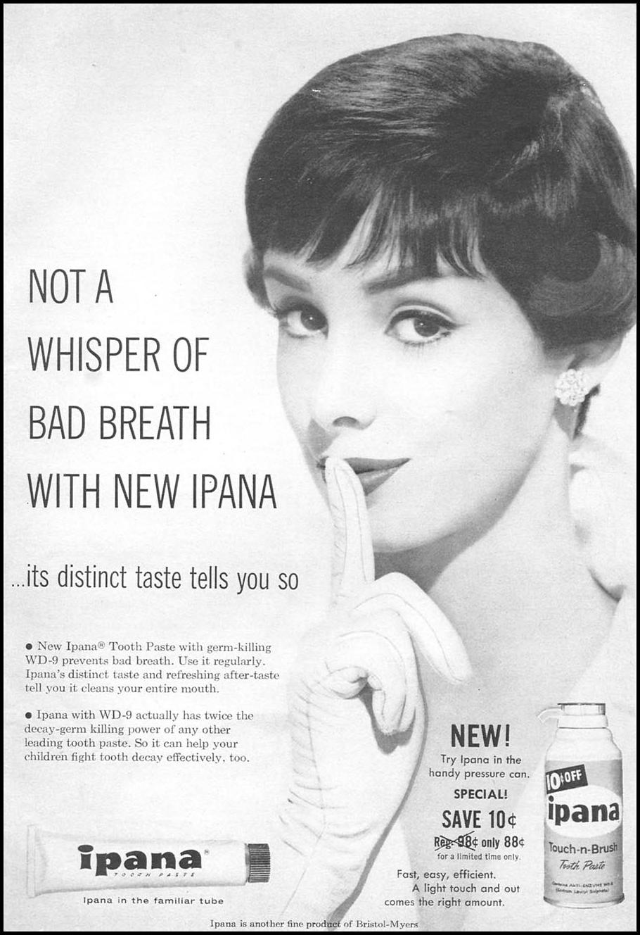 IPANA TOOTHPASTE WOMAN'S DAY 06/01/1958 p. 1