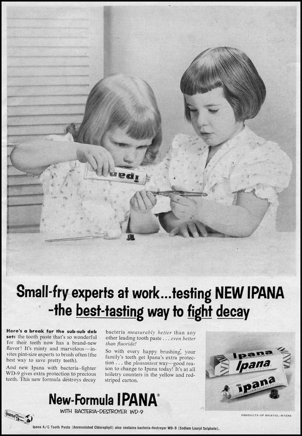 IPANA TOOTHPASTE WOMAN'S DAY 07/01/1955 p. 1
