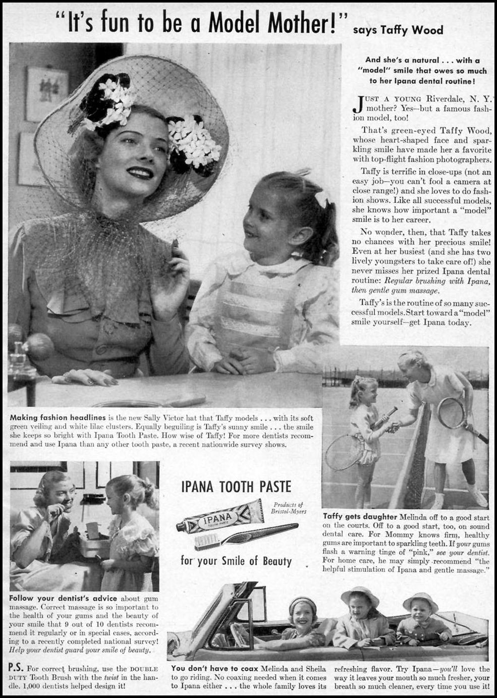 IPANA TOOTHPASTE WOMAN'S DAY 08/01/1948 p. 1