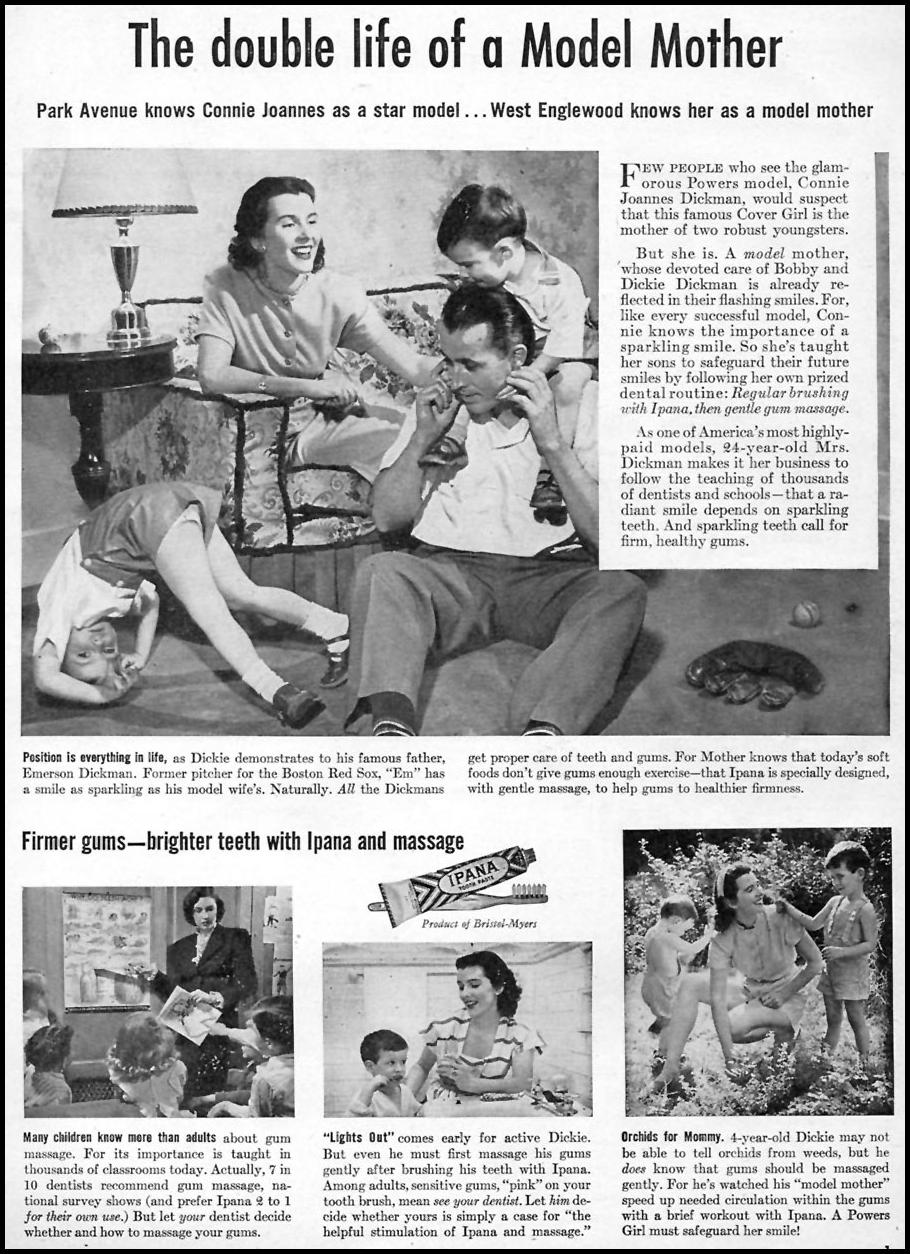 IPANA TOOTHPASTE WOMAN'S DAY 10/01/1946 p. 1
