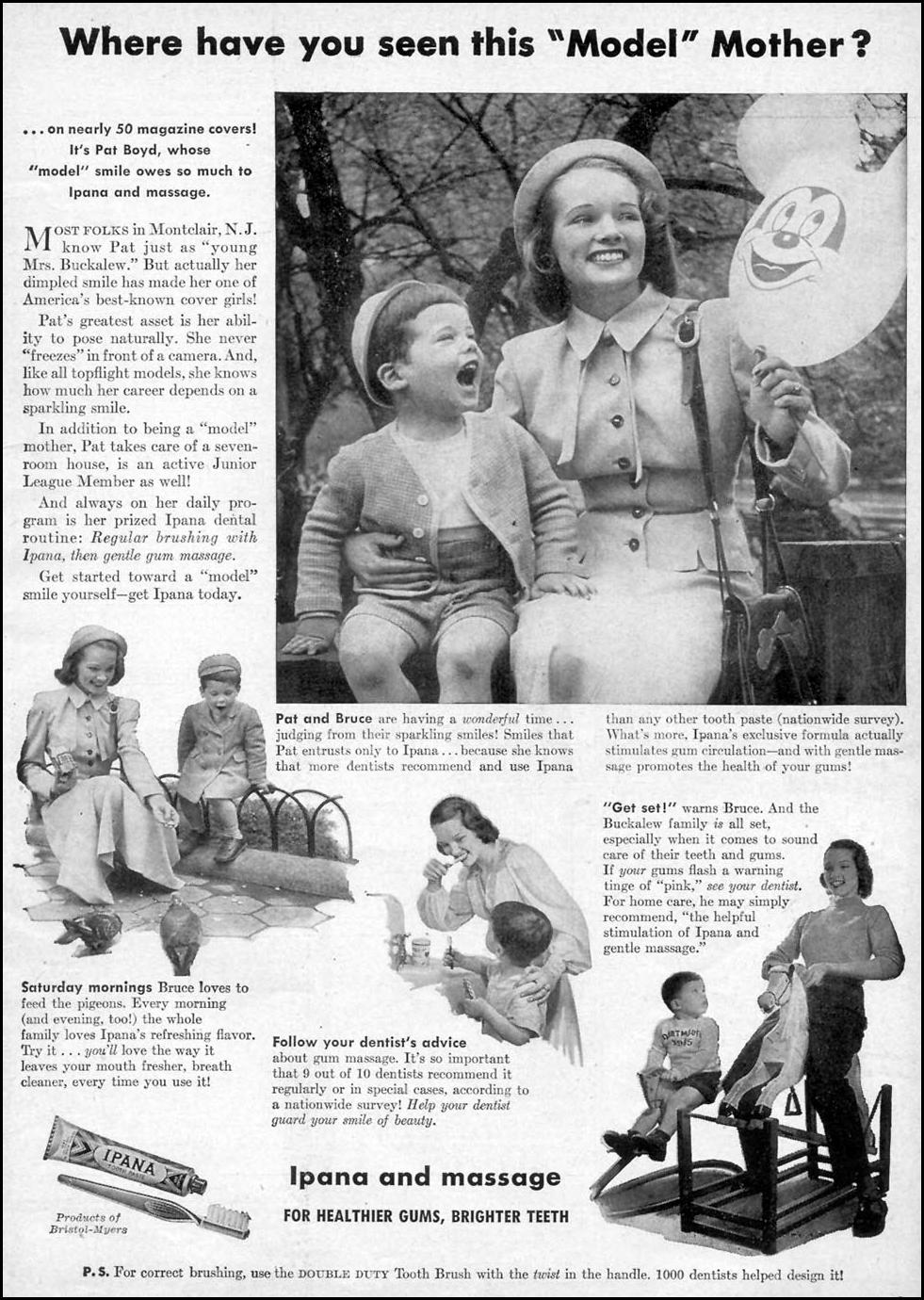 IPANA TOOTHPASTE WOMAN'S DAY 10/01/1948 p. 1