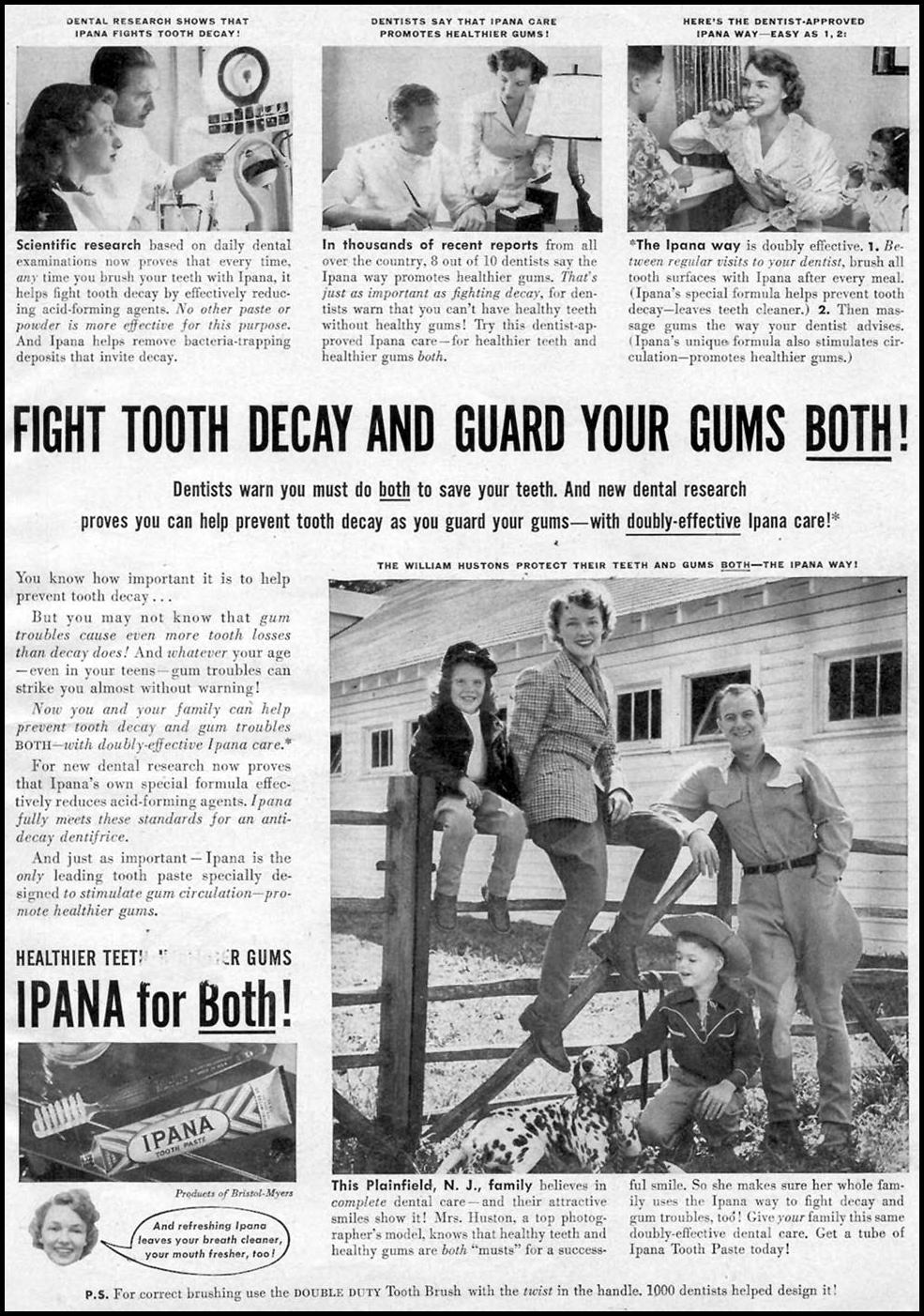 IPANA TOOTHPASTE WOMAN'S DAY 12/01/1949 p. 1