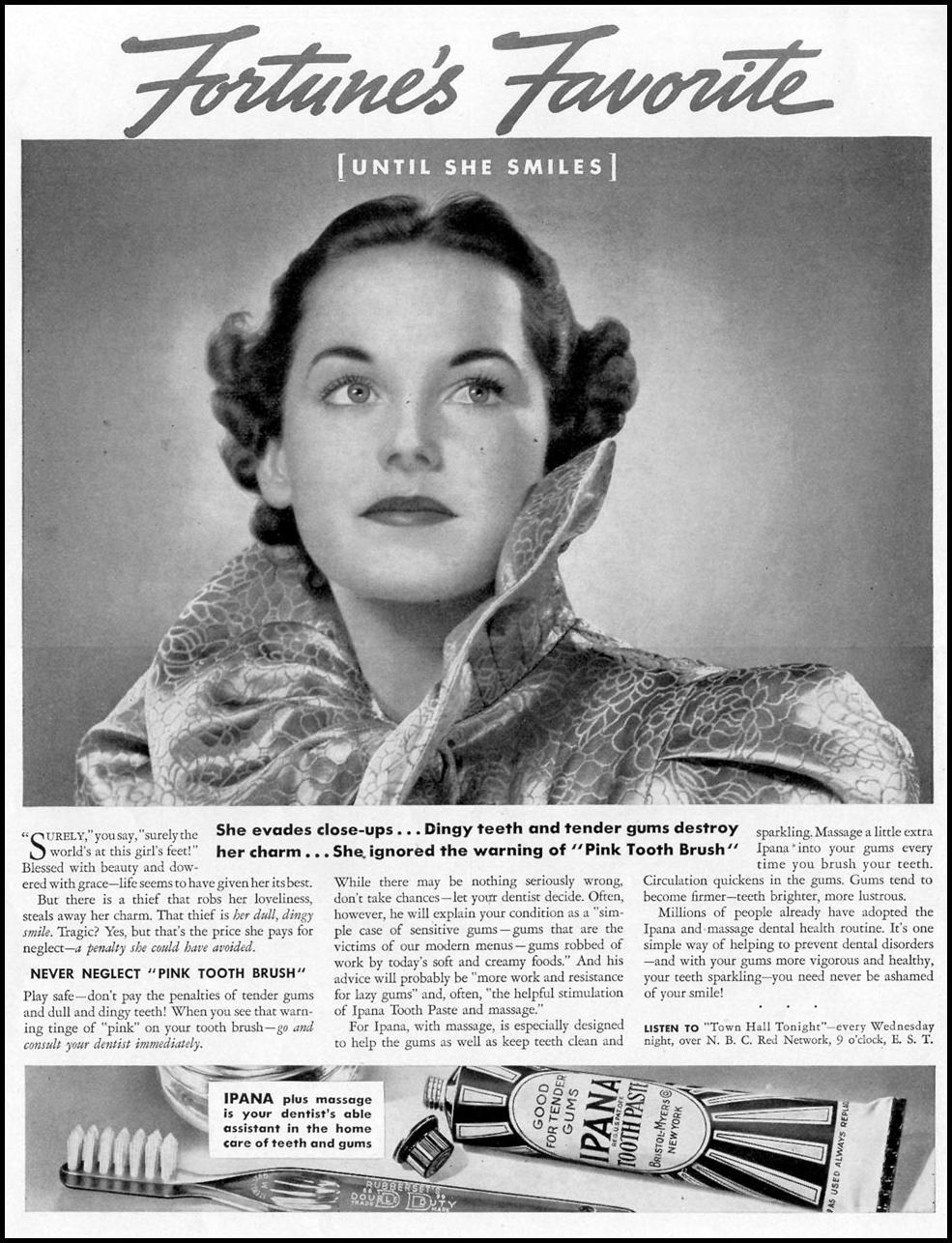 IPANA TOOTHPASTE LIFE 10/04/1937 p. 22