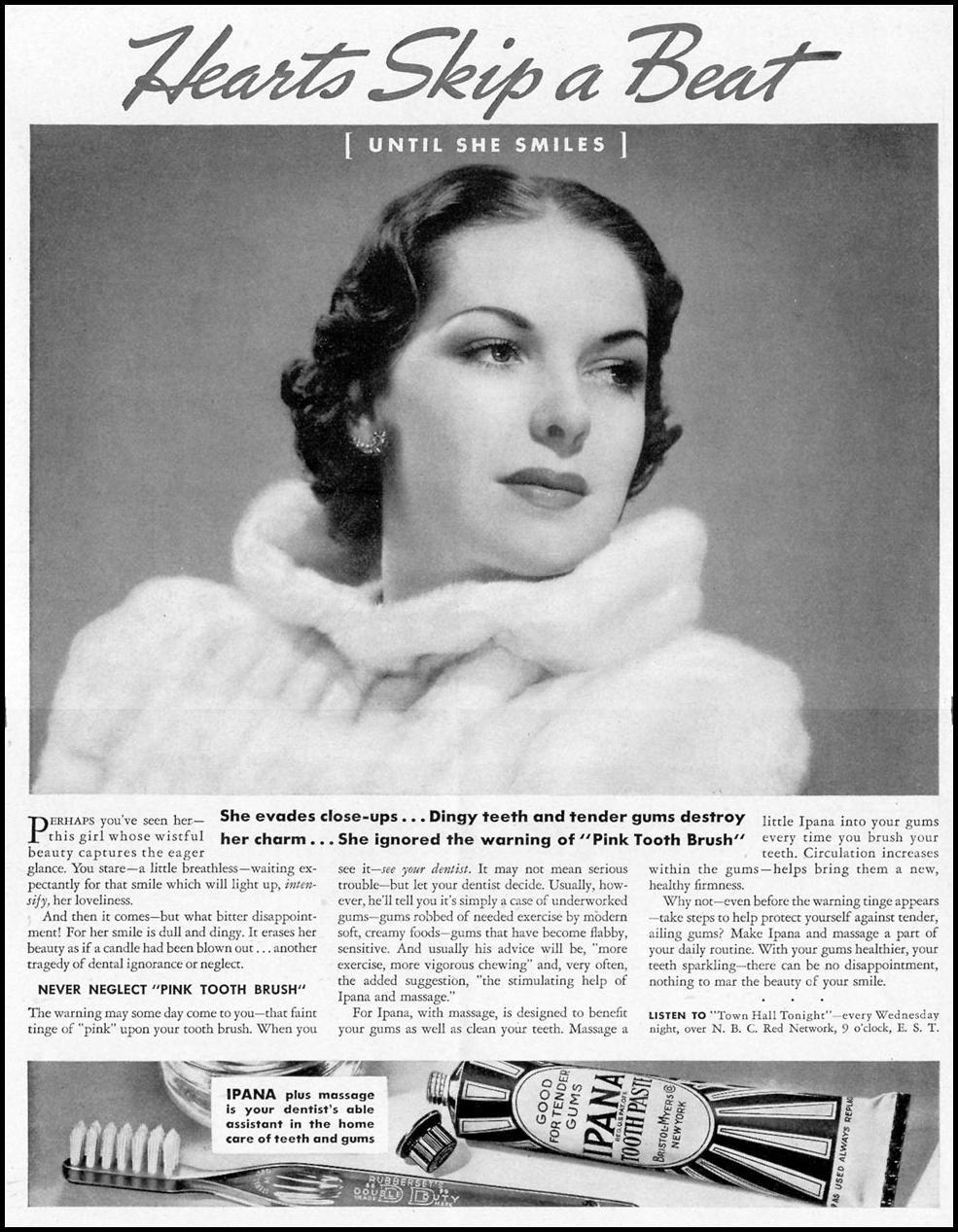 IPANA TOOTHPASTE LIFE 12/27/1937 p. 8