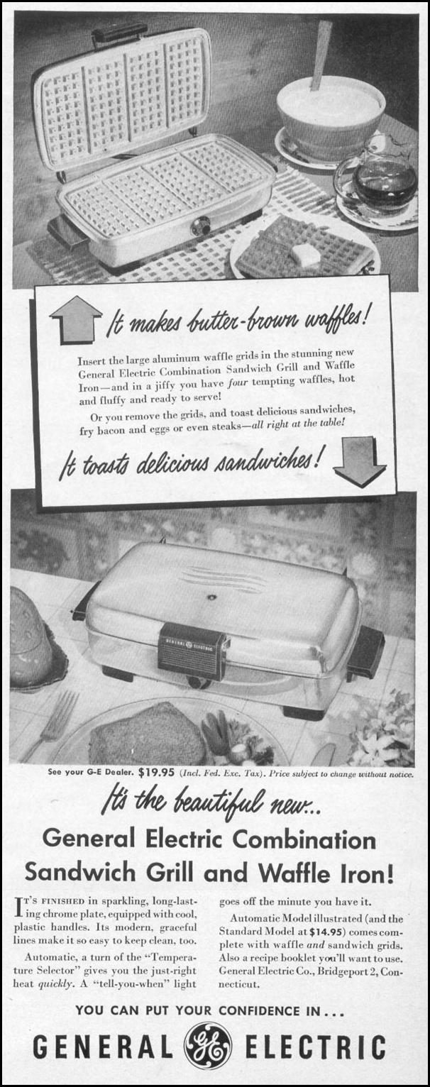 COMBINATION SANDWICH GRILL AND WAFFLE IRON LIFE 06/05/1950 p. 43