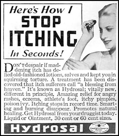 HYDROSAL GOOD HOUSEKEEPING 04/01/1936 p. 239