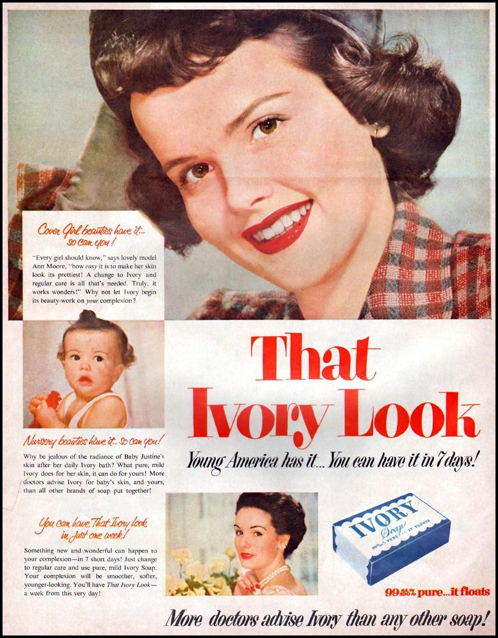 IVORY SOAP WOMAN'S HOME COMPANION 12/01/1952 p. 24
