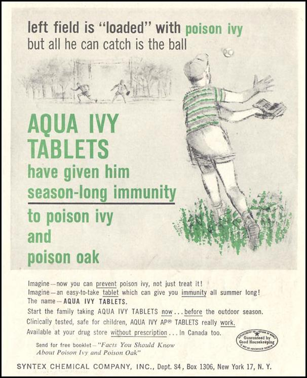 AQUA IVY TABLETS SATURDAY EVENING POST 05/02/1959 p. 105