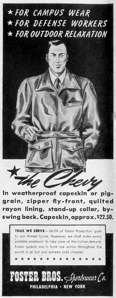 THE CHEVY JACKET LIFE 11/08/1943 p. 116
