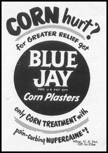 BLUE JAY CORN PLASTERS LIFE 06/05/1950 p. 119