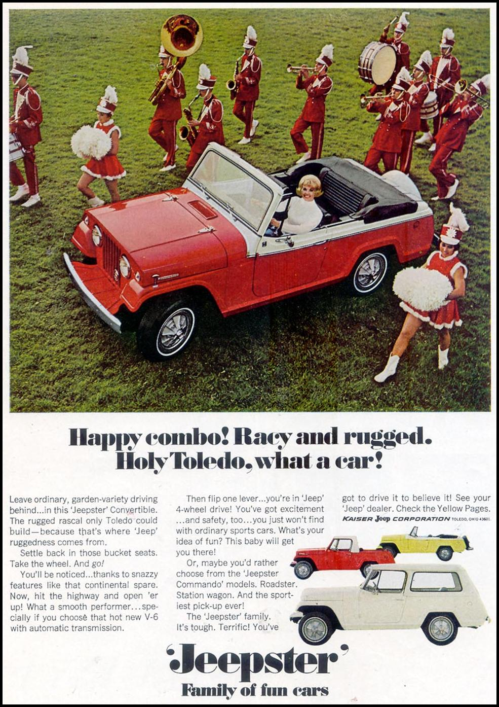 JEEP JEEPSTER TIME 04/21/1967 p. 58