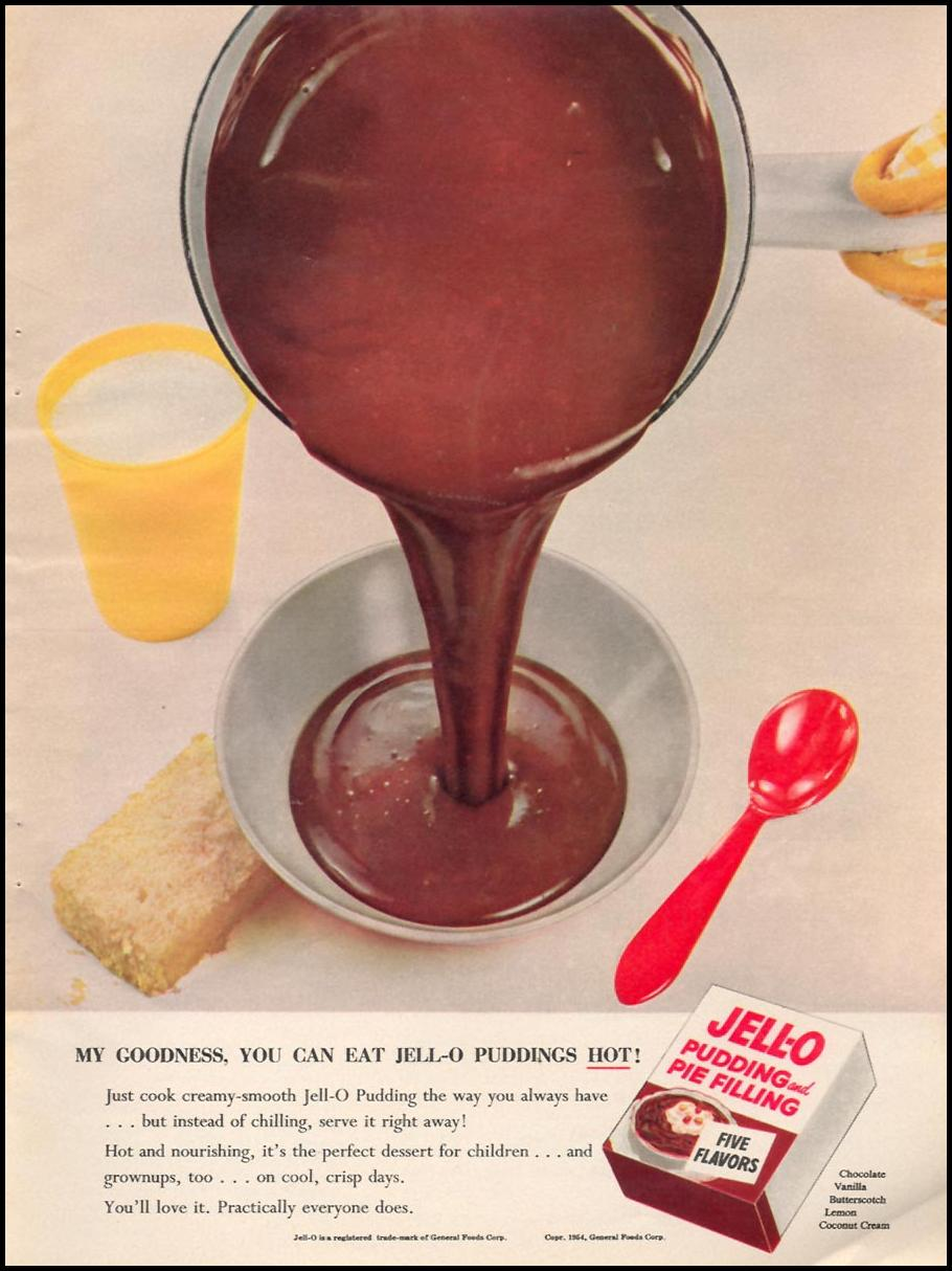 JELL-O PUDDING WOMAN'S DAY 12/01/1954 p. 19