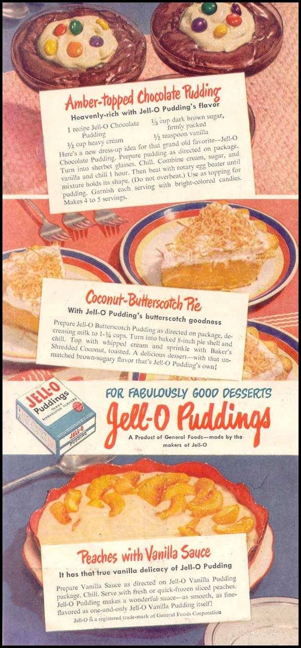 JELL-O PUDDING GOOD HOUSEKEEPING 07/01/1948 p. 134
