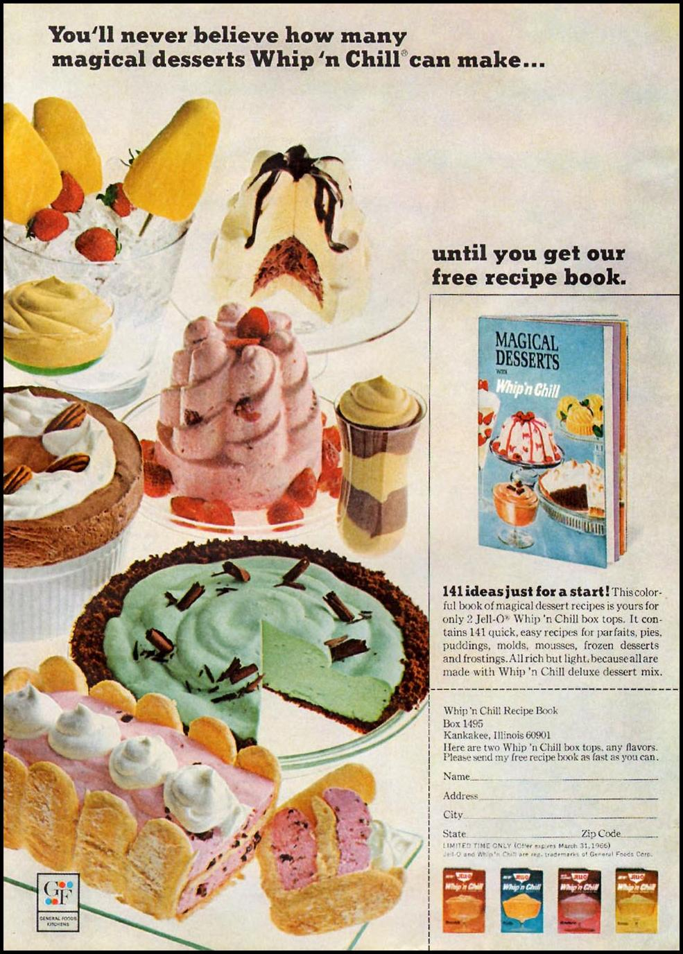 JELL-O WHIP 'N CHILL GOOD HOUSEKEEPING 10/01/1965 p. 7