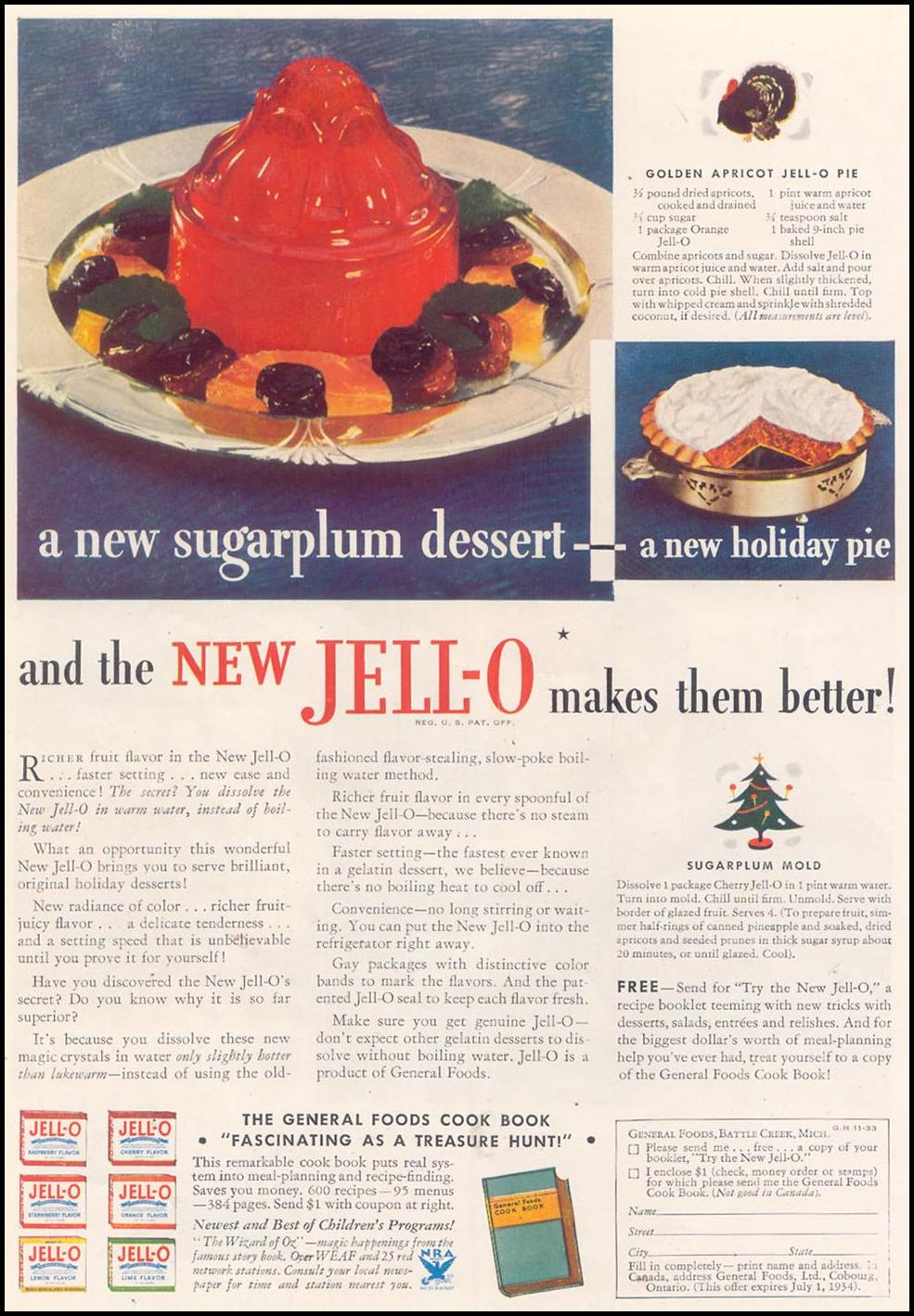 JELL-O GOOD HOUSEKEEPING 11/01/1933
