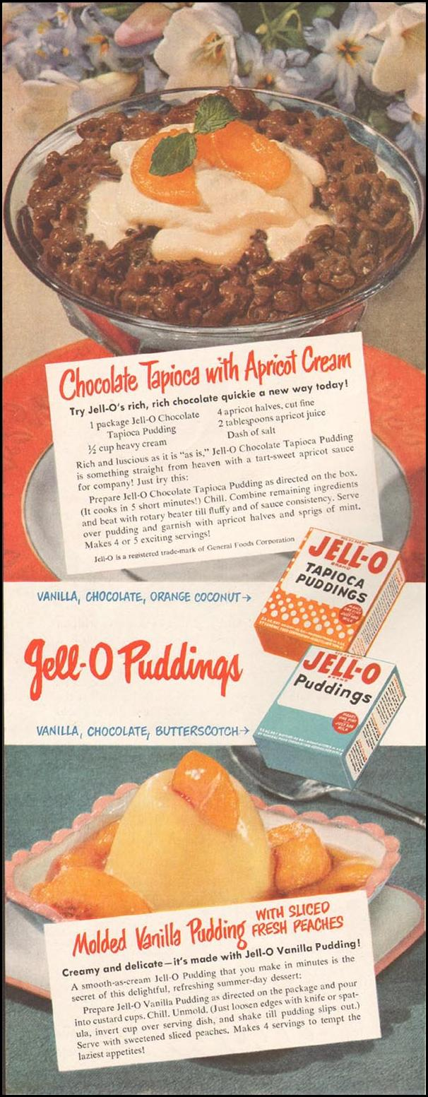 JELL-O PUDDING LADIES' HOME JOURNAL 07/01/1949 p. 92