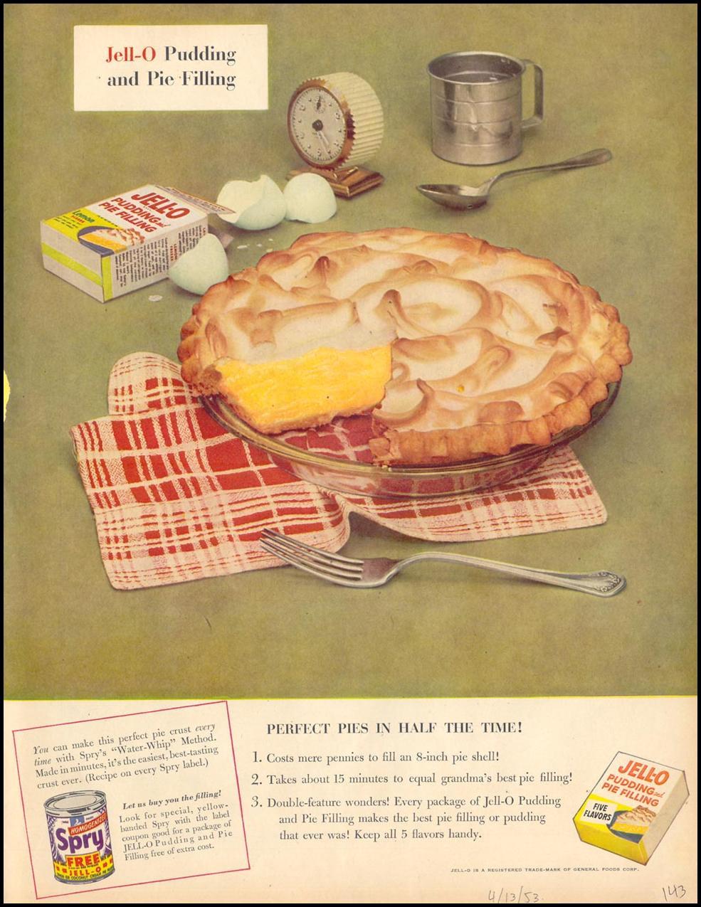 JELL-O PUDDING LIFE 04/13/1953 p. 143