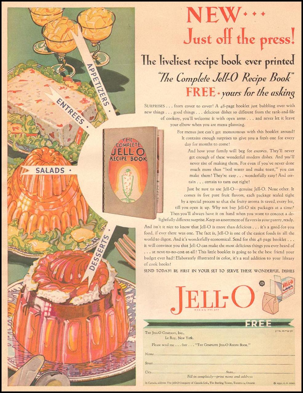 JELL-O THE HOME MAGAZINE 04/01/1930 p. 45