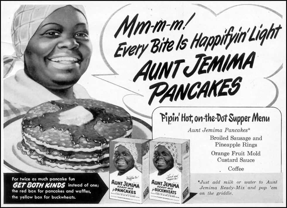 AUNT JEMIMA READY-MIX PANCAKES WOMAN'S DAY 03/01/1948 p. 13